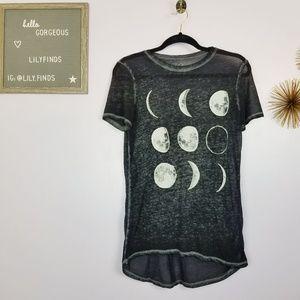 LOL Vintage Moon Phases T-Shirt Sz S